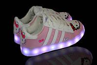Светящиеся LED кроссовки LEDKED Superstar Hello Kitty