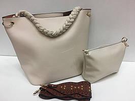Женская сумка бежевая 1373