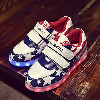 Светящиеся LED кроссовки LEDKED Kids USA