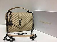 Кожаная брендовая женская сумка YSL lux копия 1399