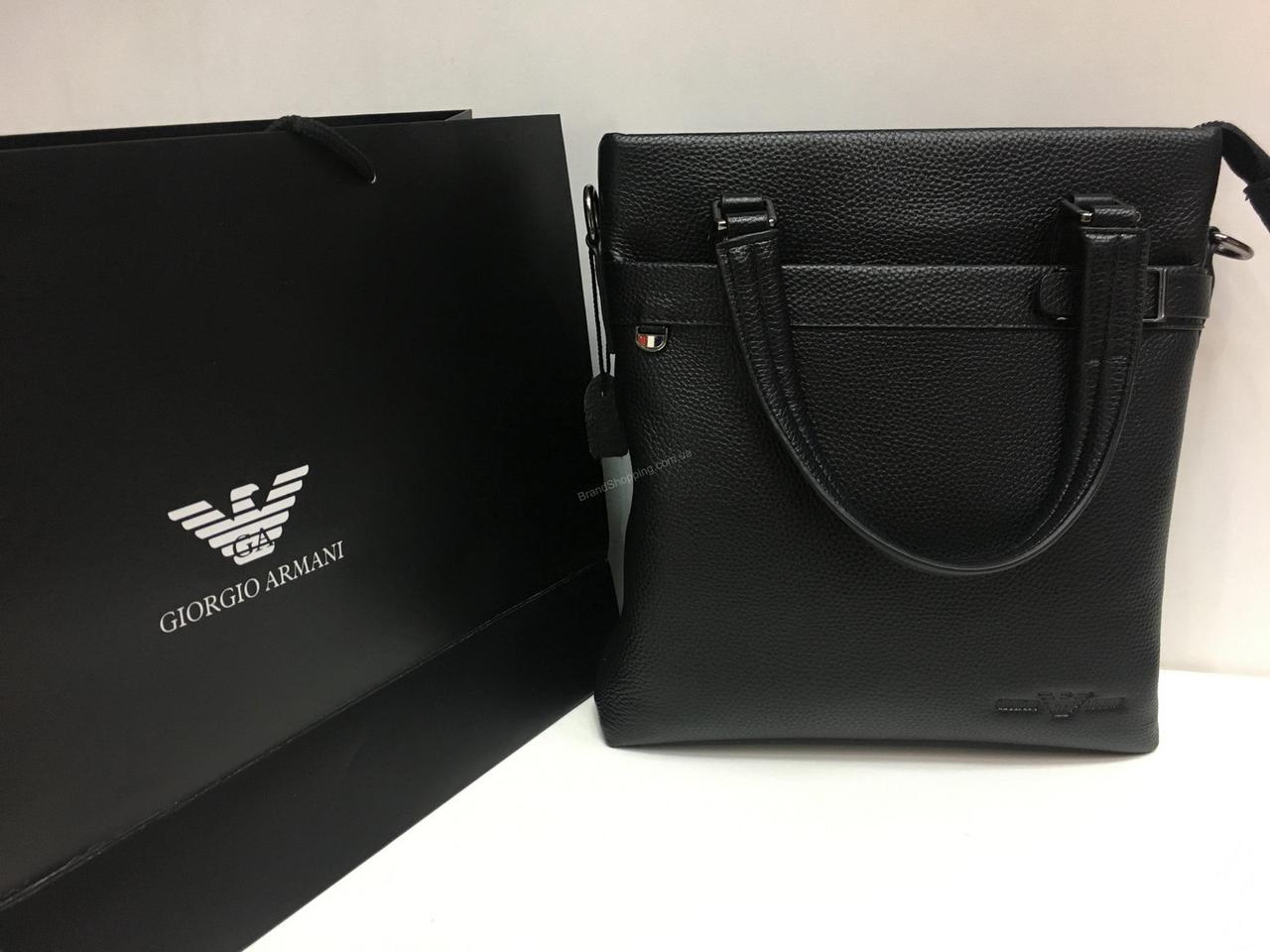 aef49419dfb7 Мужcкая кожаная сумка (сумочка ) Armani 1417 - купить по лучшей цене ...