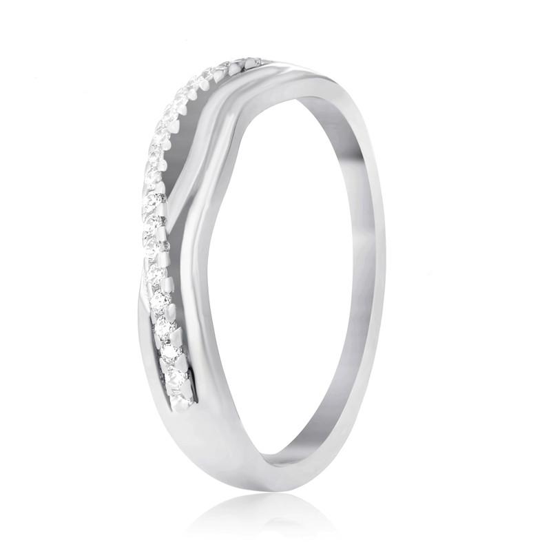 "Серебряное родированное кольцо ""743"""