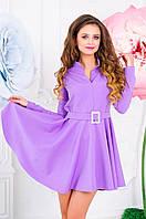 Платье с планкой и пышной юбкой 0543 (ФК)