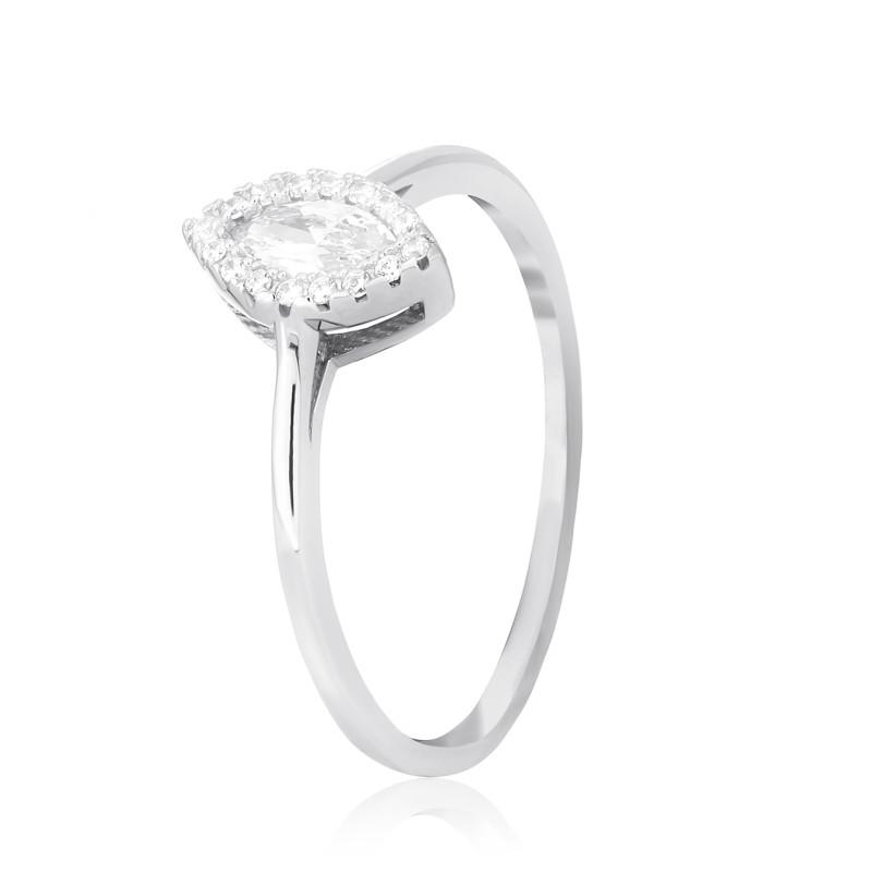 "Серебряное родированное кольцо ""755"""