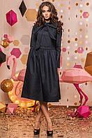 Джинсовое платье с галстуком-бантом 01421 (ФК)