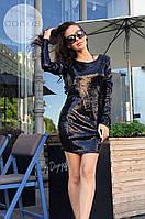 Платье пайетки с открытой спиной №01347 (ФК)