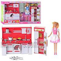 Кукла DEFA 8085, кухня, посуда, свет,