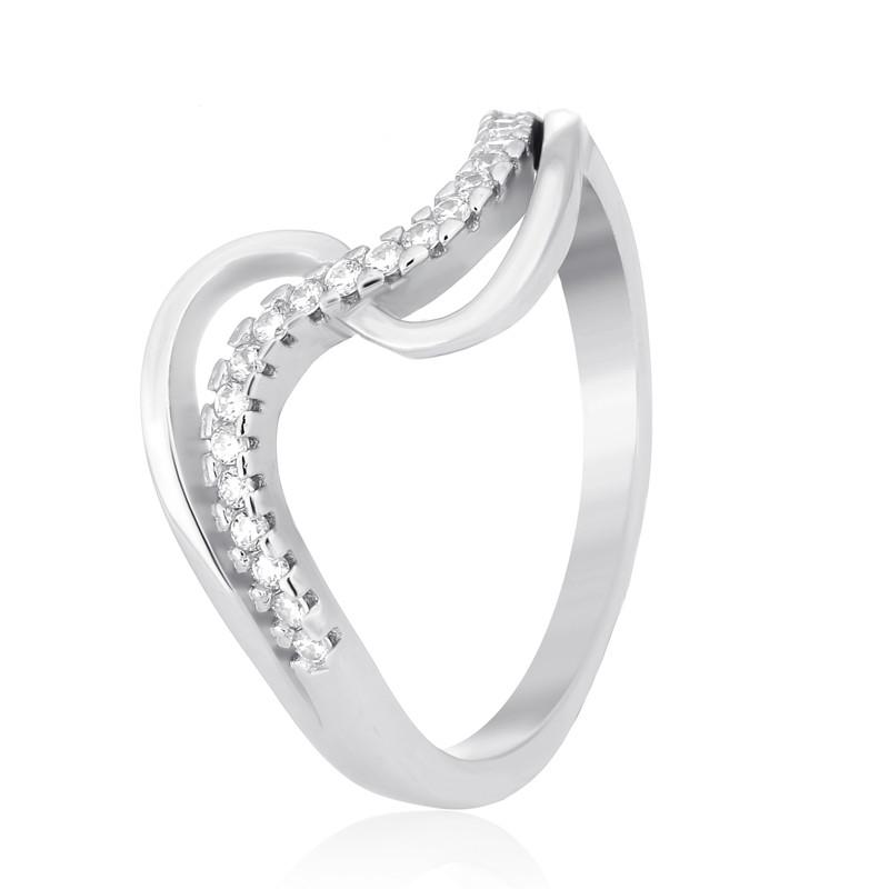 "Серебряное родированное кольцо ""759"""