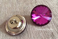 Пуговицы стразы мебельные 20 мм огранка Ромашка , цвет Малиновый