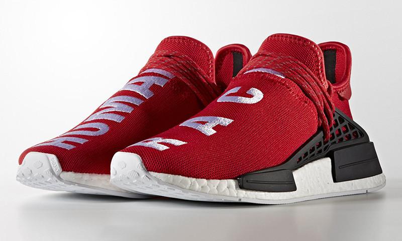 Кроссовки мужские Adidas Pharrell NMD Human Race Red Реплика 44