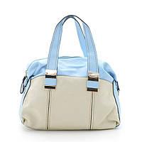 Женская оригинальная модная сумка L. Pigeon , бежевая с голубым