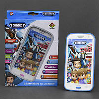 """Телефон DT 030 С """"Тобот"""" (192) интерактивный, муз, свет, на батарейке, в коробке"""