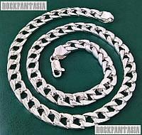 Серебряная мужская цепочка Панцирная панцирь