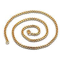 Мужская цепочка бижутерия из нержавеющей ювелирной стали с позолотой England 173068