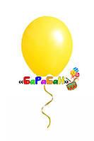 Желтый летающий шар без рисунка. Диаметр 31 см.