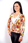 Блуза жакет двойка с длинным рукавом и белой майкой, фото 2