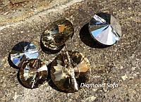 Хрустальные пуговицы 20 мм , Gold