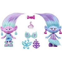 Игровой набор Тролли Модные близнецы DreamWorks Trolls Satin and Chenille's Style Set
