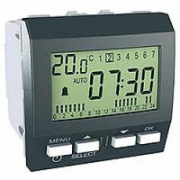 Цифровой будильник Графит Schneider Electric Unica MGU3.545.12
