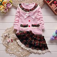 Костюм для девочки юбка и кофточка с длинным рукавом