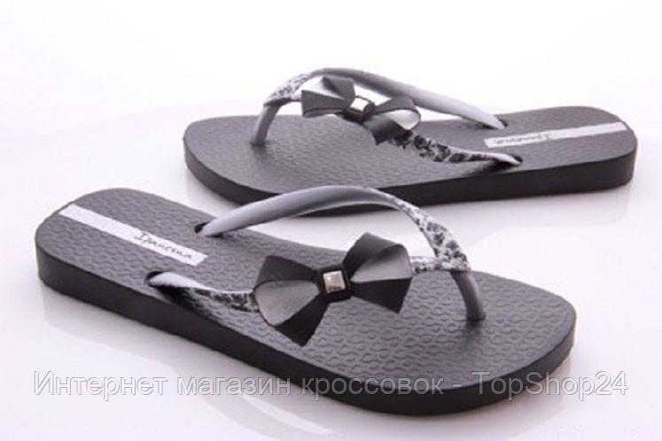 Женские вьетнамки Ipanema Apliques II Fem black /silver 80857-20537