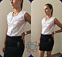 Подростковая короткая школьная юбка чёрная