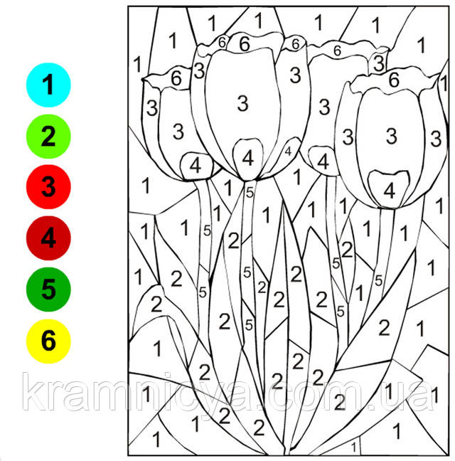 Детские картины раскраски по номерам. Скачать бесплатно