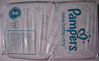 Подгузники Pampers New Baby-Dry 2 (3-6 кг) 72 шт.