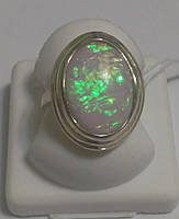 Кольцо серебряное с имитацией опала Меган