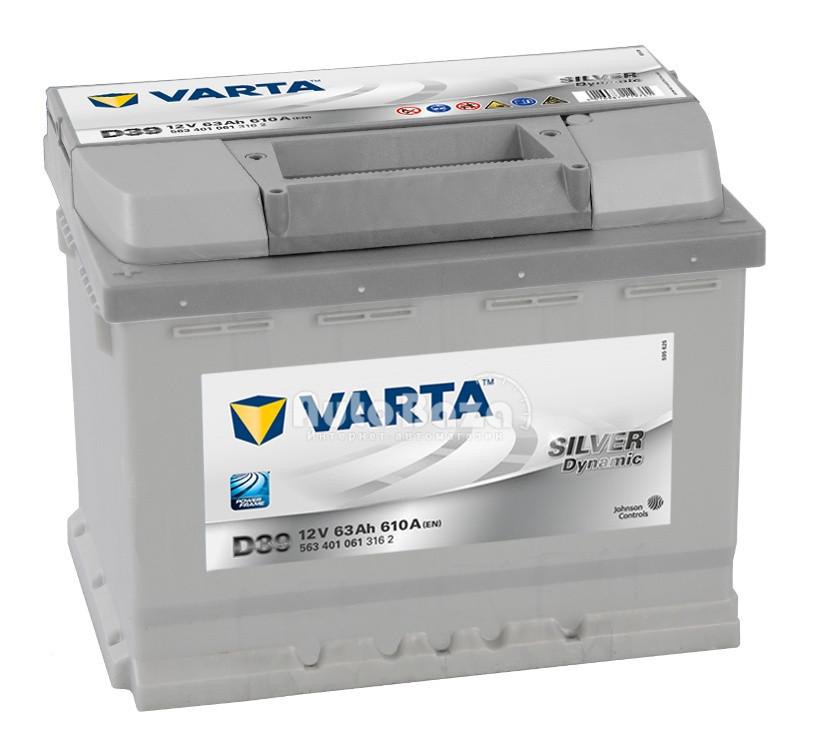 Аккумулятор Varta 63 А Варта 63 Ампер  563 401 061