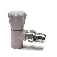 Вентиль радиаторный угловой полипропиленовый PPR Ду 20х1/2 Н
