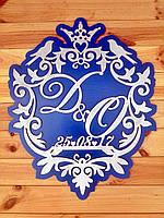 Семейный герб или монограмма на подложке