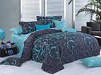 Двуспальный комплект постельного белья с компаньоном Лазурит
