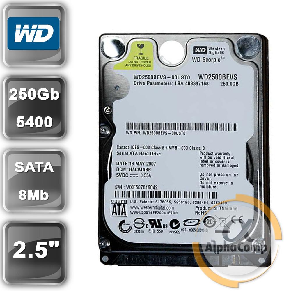 "Жорсткий диск 2.5"" 250Gb WD WD2500BEVS (8Mb/5400/SATA) БО"