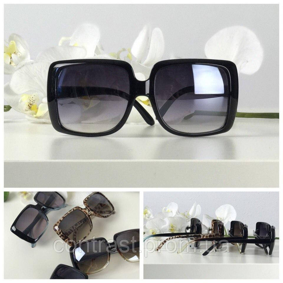 Экстравагантные солнезащитные очки оверсайз с асимметричной оправой (черные)