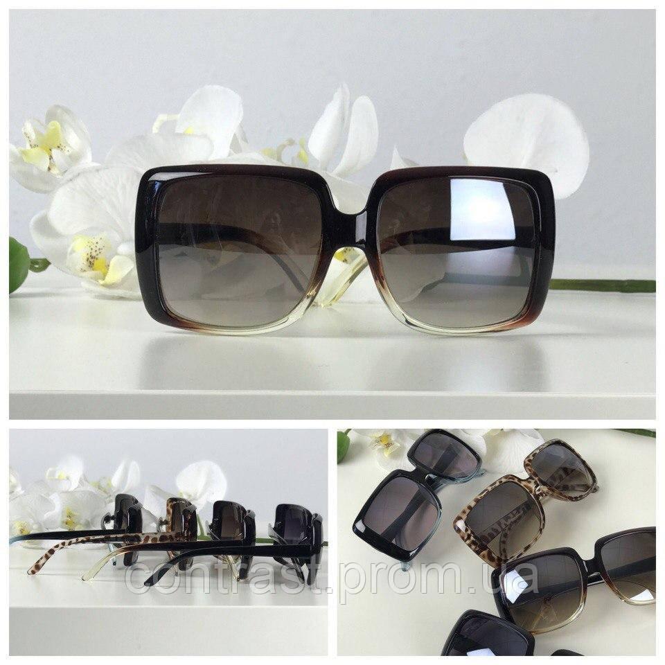 Экстравагантные солнезащитные очки оверсайз с асимметричной оправой (коричневый градиент)