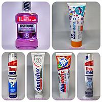 Зубные пасты, ополаскиватели полости рта