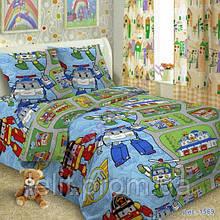 Детский полуторный комплект постельного белья TAG Robocar Poli