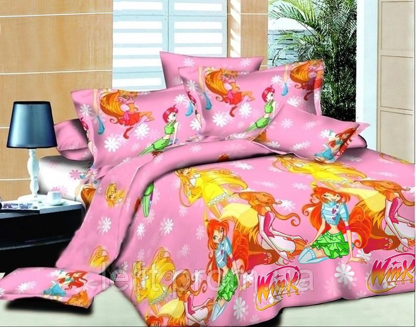 Детский полуторный комплект постельного белья TAG WINX-1