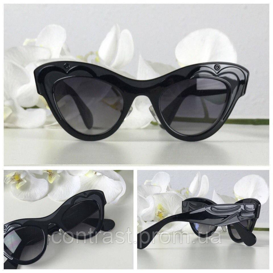 Элегантные солнезащитные очки формы kitten eye с широкой оправой