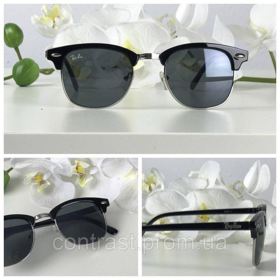 Классические солнцезащитные очки формы wayfarer с асимметричной оправой
