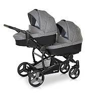 Детская коляска для двойни VERDI For 2 цвет 05 серый/серый