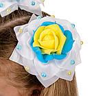 Белые банты с желто голубыми цетами , фото 2