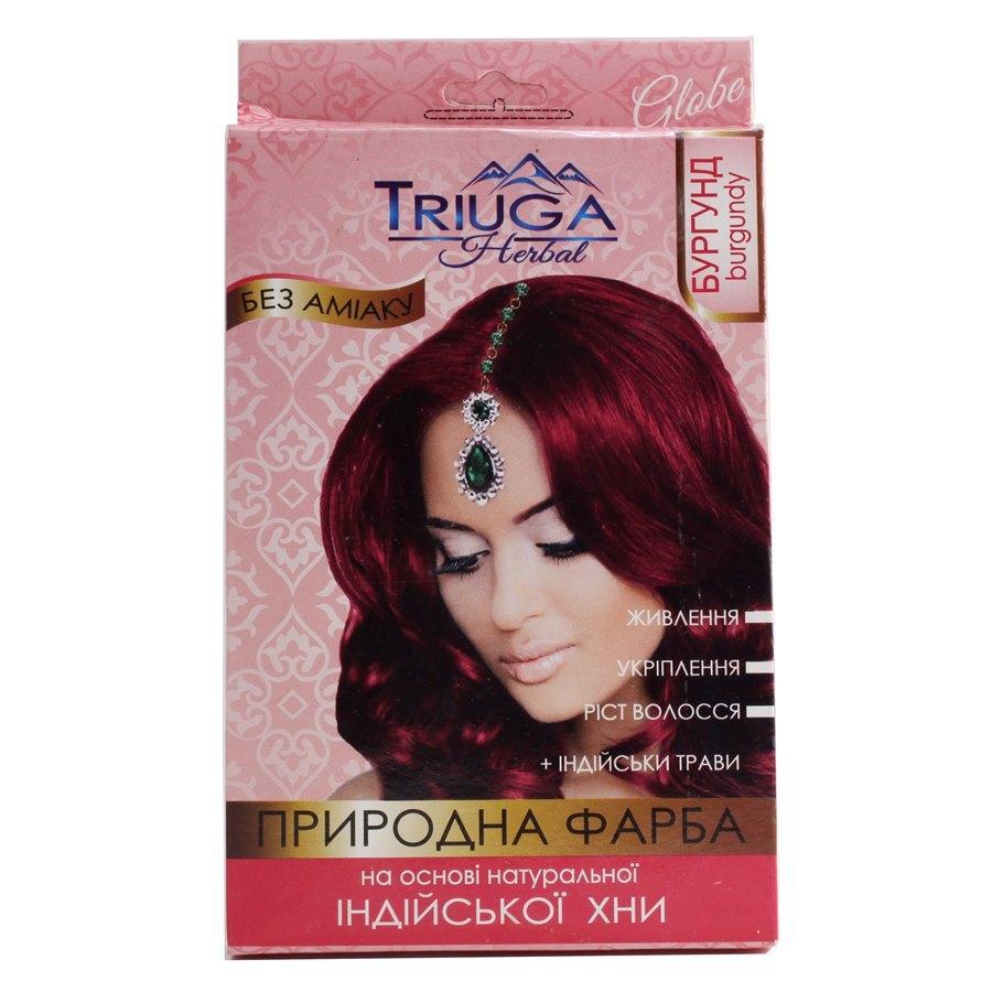 Природная краска для волос на основе хны —  Бургунд.