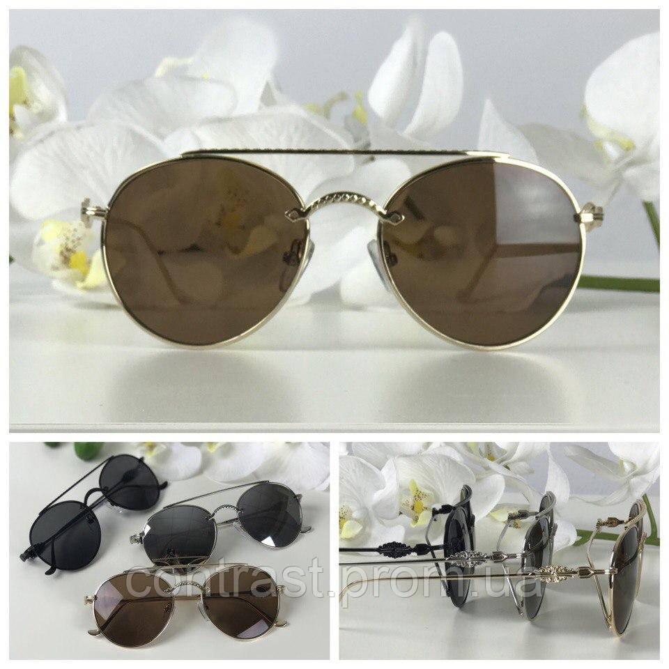 Изящные солнезащитные очки формы teashades (коричневая линза)