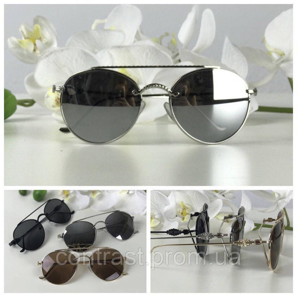 Изящные солнезащитные очки формы teashades (линза металлик)