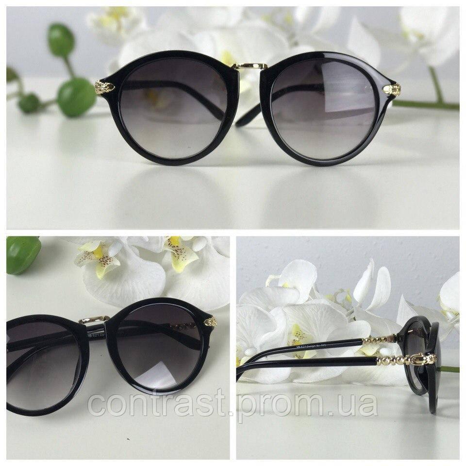 Неординарные солнезащитные очки формы pantos с ажурным декором