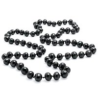 Жемчуг черный, Ø10-11, 115 см., бусы, 253БСЖ