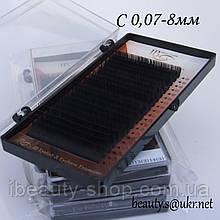 Ресницы  I-Beauty на ленте С-0,07 8мм