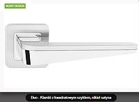 Дверная ручка Metal-bud Duo никель-сатин